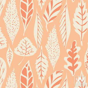 Orange & Pink Removable and Adhesive Wallpaper for Cute Girls Room Decor Ideas - Wallternatives