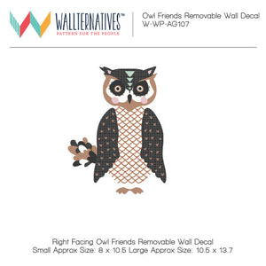 Bonnie Christine Designer Removable Wall Decals for Forest Animals and Owl Themed Kids Room Decor