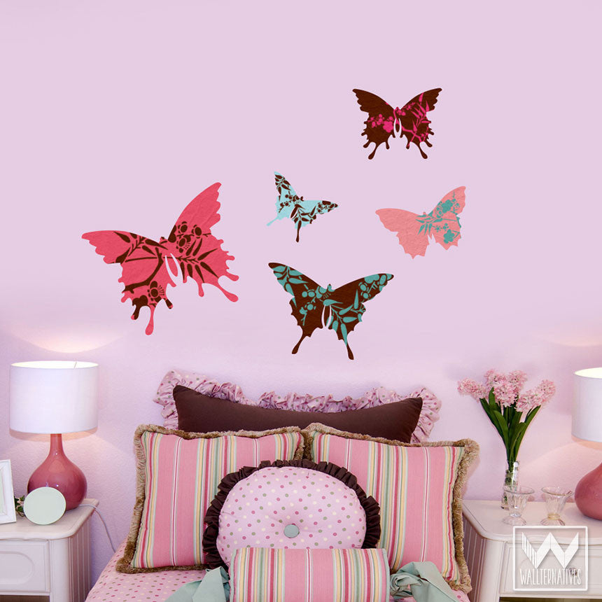 girls wall decor wall decor ideas for teenage girls and butterfly - Wall Designs For Girls Room
