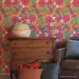 Large Floral Wallpaper Designs and Bari J Wall Mural Patterns for Decorating - Wallternatives