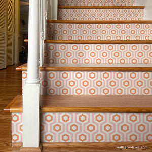 Modern Stair Design Decals DIY Decor - Wallternatives wallternatives.com