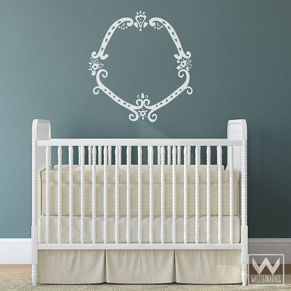 Elegant Classic Regal Frame Vinyl Wall Decal Graphic For Bedroom ...