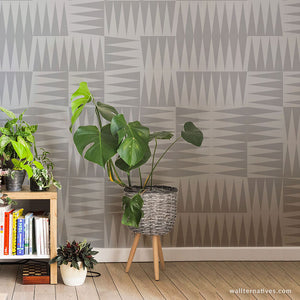 Rotating Triangles Removable Wallpaper