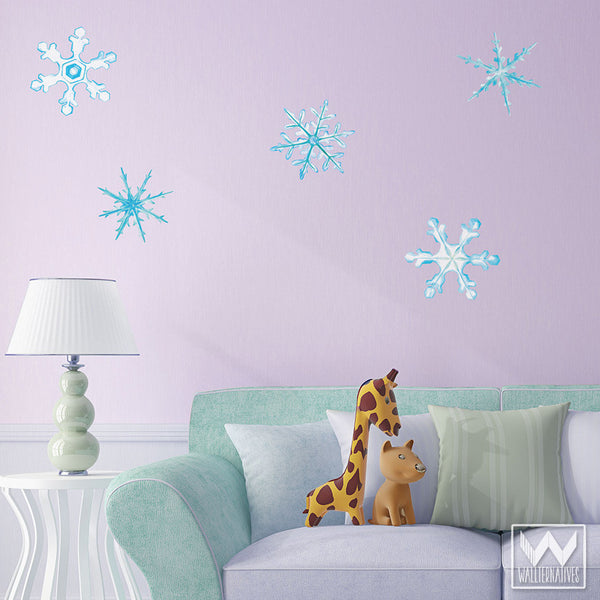 Winter Snowflake Removable Wall Decal Wall Art For Christmas - Christmas wall decals removable