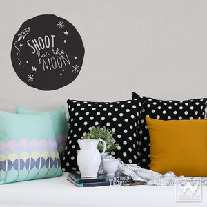 Inspirational Shoot for the Moon Quote Removable Wall Decals - Wallternatives