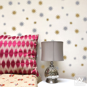 Star Shapes Vinyl Removable Wall Decals for Nursery or Bedroom Decorating - Wallternatives