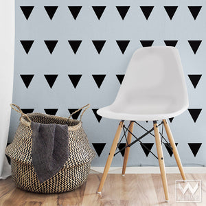 Large Triangle Shapes Peel and Stick Wall Stickers - Wallternatives Decals