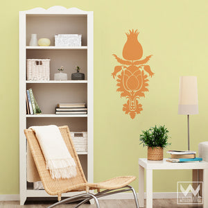 Decorating Walls with Peel and Stick Stickers - Tulip Floral Flourish Vinyl Wall Decals - Wallternatives