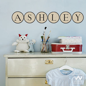 Typewriter Alphabet Letters Monogram Removable Reusable Wall Stickers