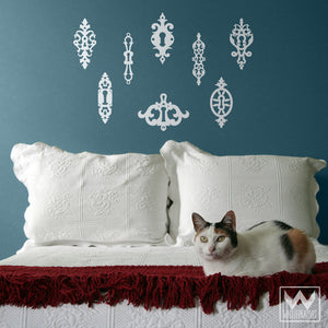 Vintage Shabby Chic Keys Hardware Vinyl Wall Decals - Wallternatives