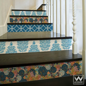 stair risers removable wallpaper fresh