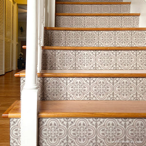 DIY Stair Decals Pattern Peel and Stick Stair Risers Boho Decor - Wallternatives