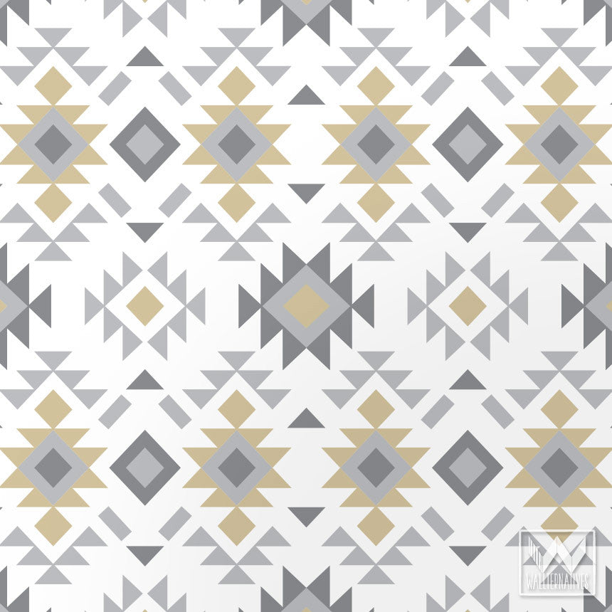 Tribal Aztec Print Pattern Removable Wallpaper Diy Decor