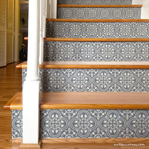 Spanish Tile Stairs Design Decals - Wallternatives