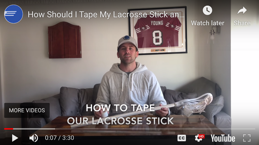How do you tape a lacrosse stick?