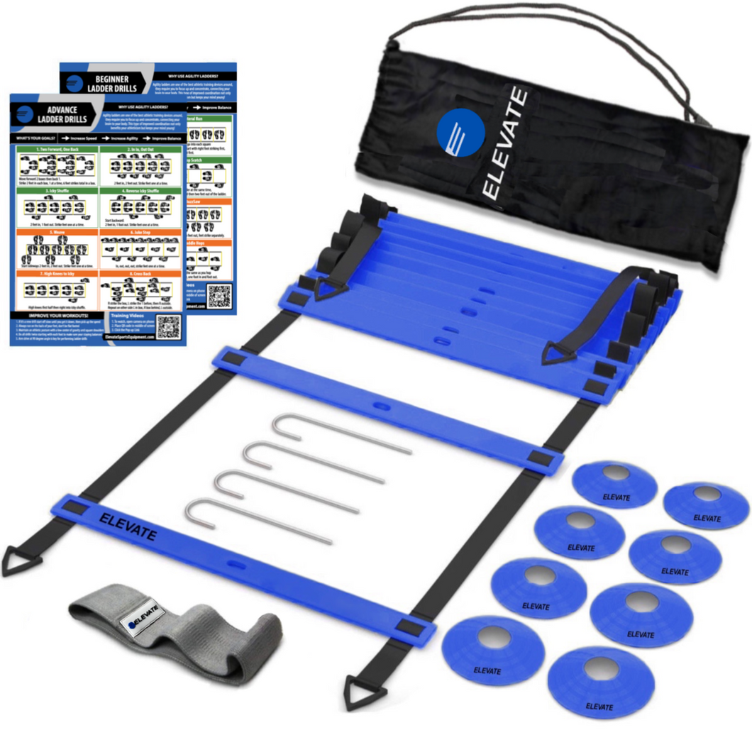 Agility Ladder + Agility Cones + Fabric Resistance Band Training Set to improve athleticism