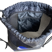 Load image into Gallery viewer, Drawstring Lacrosse Ball Bag has extra pockets for wallet, phone, keys