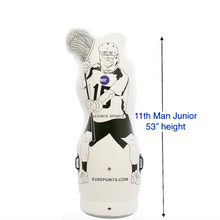 Load image into Gallery viewer, 4.5 foot junior lacrosse dummy for u10 and box lacrosse. Lacrosse training aids and equipment