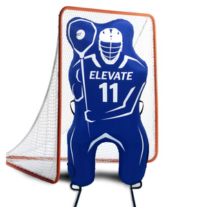 Elevate 11th Man Inflatable Lacrosse Goalie Shot Blocker and shooting target. Lacrosse Goalie Mannequin