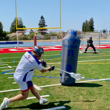 Load image into Gallery viewer, Train offensive lax players and goalies to score and save screen shots. Top new lacrosse training tools for practice and backyard training
