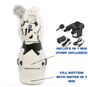 inflatable dummy with pump and pop up function