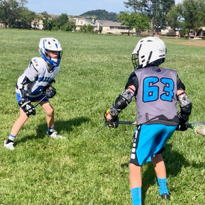 Lacrosse defense training shaft NUBS for teaching fundamental defense