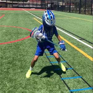 Agility ladder and speed training for lacrosse footwork
