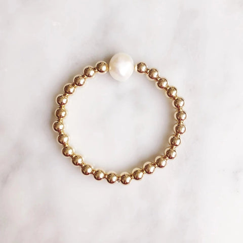 Pearl of my Eye: Large Gold Beads + Large Pearl