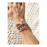 Flower Power: Bracelet with Gold Beads and Flower
