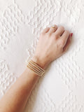 The Small Classic Stack: Bracelets with Small Gold Beads