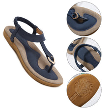 Load image into Gallery viewer, Women Summer Beach Sandals Flat Heel Casual Soft Hollow Slippers Single Shoes - NETTEa