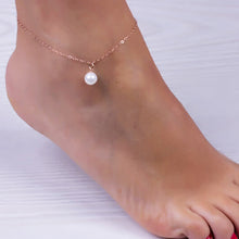 Load image into Gallery viewer, Sexy Women Pearl Rose Gold Ankle Chain Anklet Bracelet Foot Jewelry Sandal Beach - NETTEa