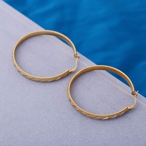Women's Fashion Golden Plated Big Large Hoop Dangle Earrings Jewelry Charm - NETTEa