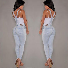 Load image into Gallery viewer, Women Sexy Slim Fit Baggy Loose Jeans Denim Overalls Pants Jumpsuit Rompers - NETTEa