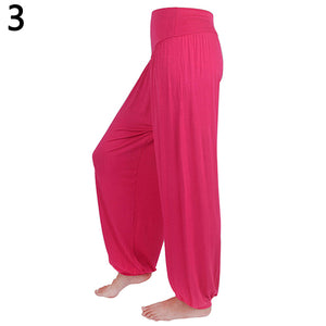 Yoga Dance Stretchy Loose Harem Pants Knickerbockers - NETTEa