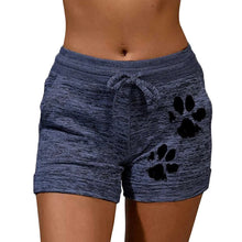 Load image into Gallery viewer, New Summer Drawstring Paw Print Shorts Female Elastic High Waist Loose Shorts Women Fashion Soft Beach Casual Sport Short - NETTEa