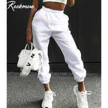 Load image into Gallery viewer, Rockmore Harajuku Joggers Wide Leg SweatPants Women Trousers Plus Size High Waist Pants Streetwear Korean Casual Pant Femme Fall - NETTEa