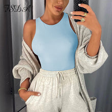 Load image into Gallery viewer, FSDA O Neck Summer Sleeveless Sexy Bodysuit Women 2020 Off Shoulder Body Tops Streetwear Casual White Bodysuits - NETTEa