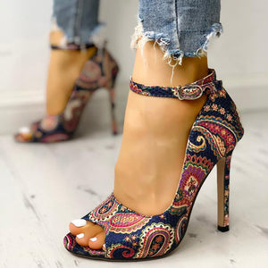 Women High Heels Pumps Sandals Fashion Summer shoes woman 10.5cm and 6.5cm Sexy Ladies Increased Stiletto Super Peep Toe shoes - NETTEa