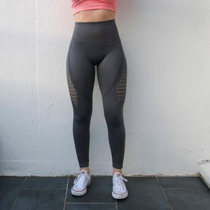 Nepoagym Women Energy Seamless Tummy Control Yoga Pants Super Stretchy Gym Tights High Waist Sport Leggings Running Pants - NETTEa
