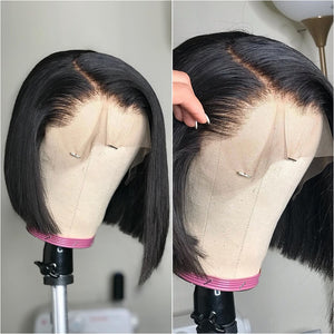 Short Bob Wigs Straight Lace Front Human Hair Wigs For Women Pre Pluck With Baby Hair 13x4 Bob Lace Front Wigs Glueless Lace Wig - NETTEa