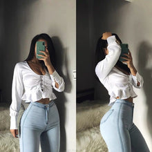 Load image into Gallery viewer, High waisted jeans women spring autumn sexy tight hip lifting Leggings high elasticity slim pants fashionable and versatile - NETTEa