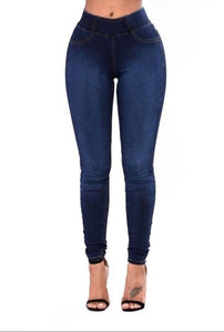 Skinny Jeans Woman Rubber Band Corset Jeans Women's High Waisted Trousers Jeans Pants for Women Casual Strech Denim - NETTEa