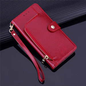 YXAYN Zipper Leather Flip Case Wallet Card Holder Coque for iPhone Xs Xr X 12 Mini 11 pro Max 8 7 Plus Case - NETTEa