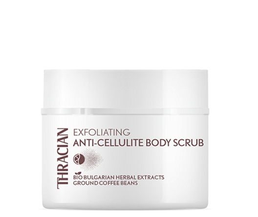 Thracian Exfoliating Anti-Cellulite Body Scrub for Slimming, Toning, Firming, Tightening, Fat burner with bio Bulgarian herbal extracts, Ground Coffee Beans, 200 ml, 6.8 Fl Oz front