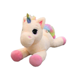 Peluche licorne queue multi-couleur rose
