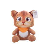 Peluche Chat Tout Mignon Orange