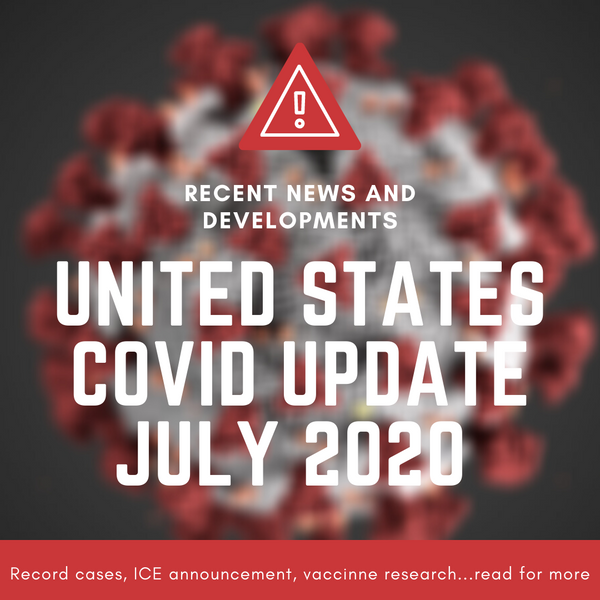 Recent Updates: United States experiencing record numbers of cases and other important news
