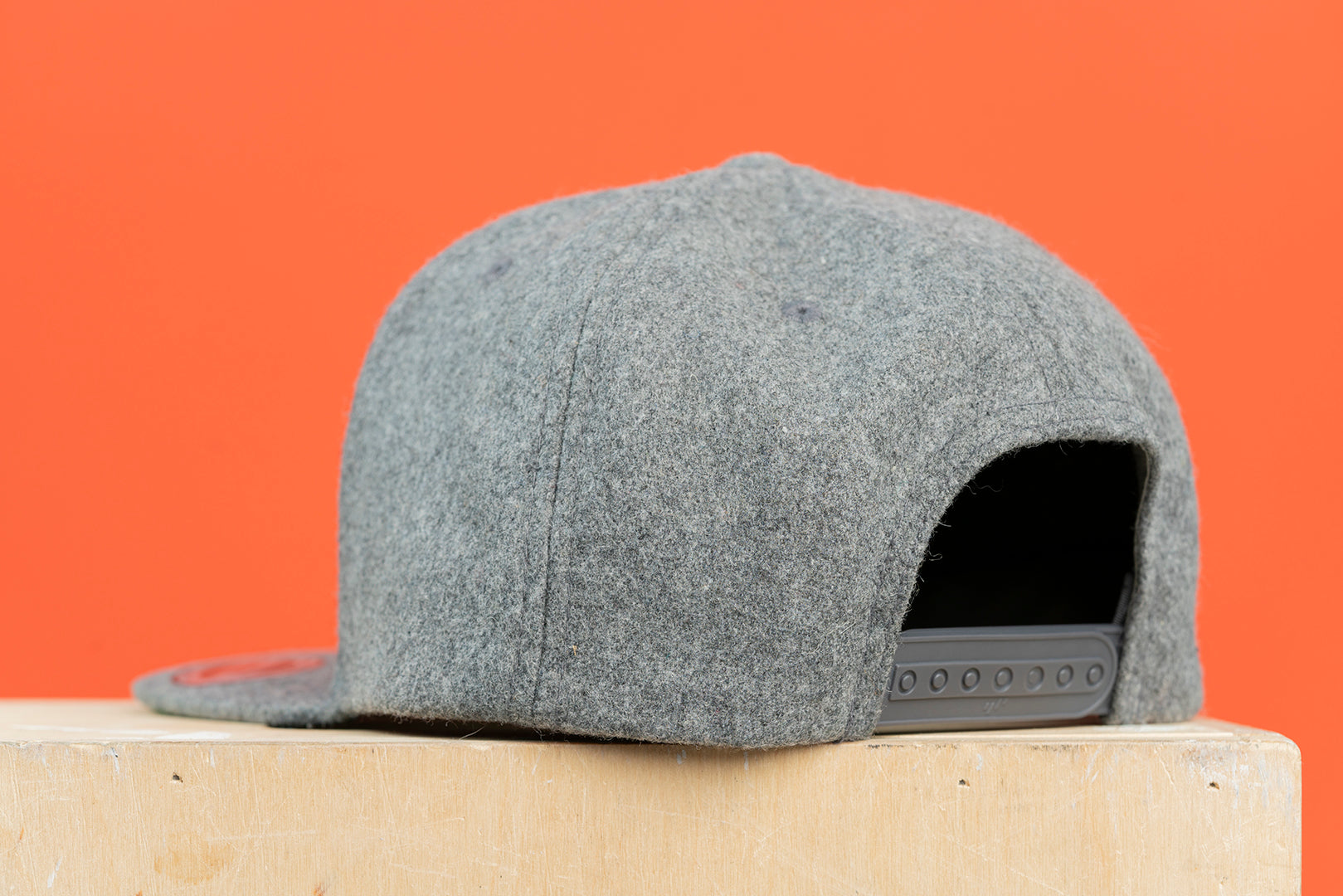 Kensington K Snapback Gray Wool Hat