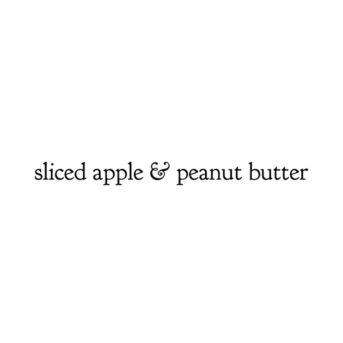 Sliced Apple & Peanut Butter